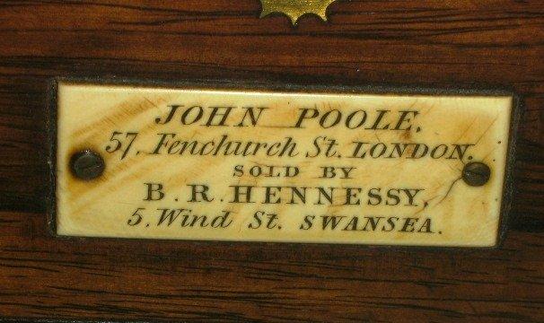 JOHN POOLE ROSEWOOD 2-DAY MARINE CHRONOMETER WITH POOLE - 5