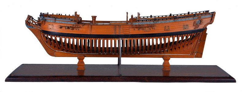 A 1:48 SCALE ADMIRALTY DOCKYARD OR NAVY BOARD MODEL FOR