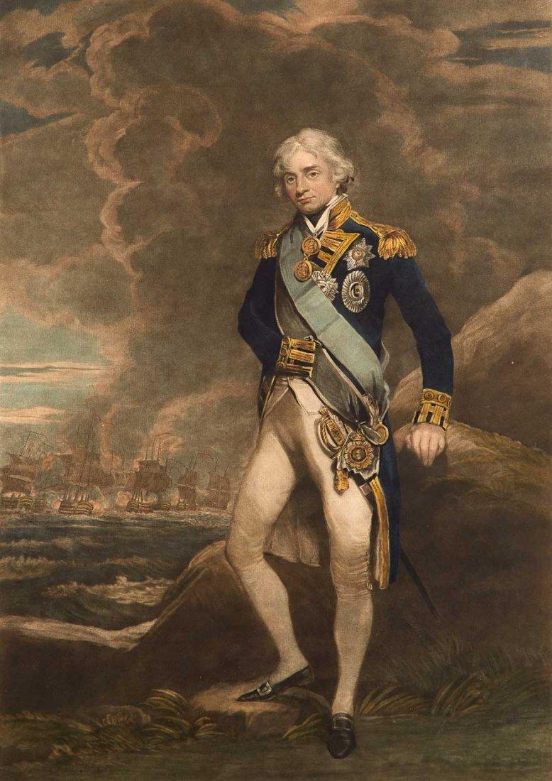 PROOF NELSON MEZZOTINT, AFTER JOHN HOPPNER, 1805-06