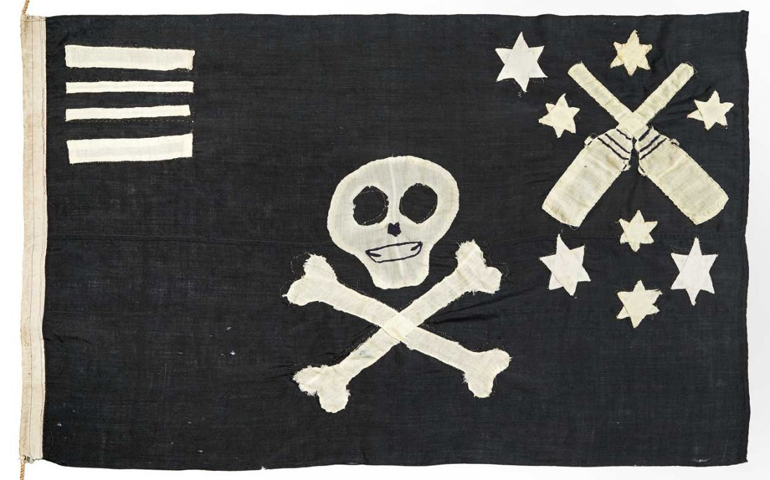 'JOLLY ROGER' FLOWN BY H.M. SUBMARINE TANTALUS, 1943-44