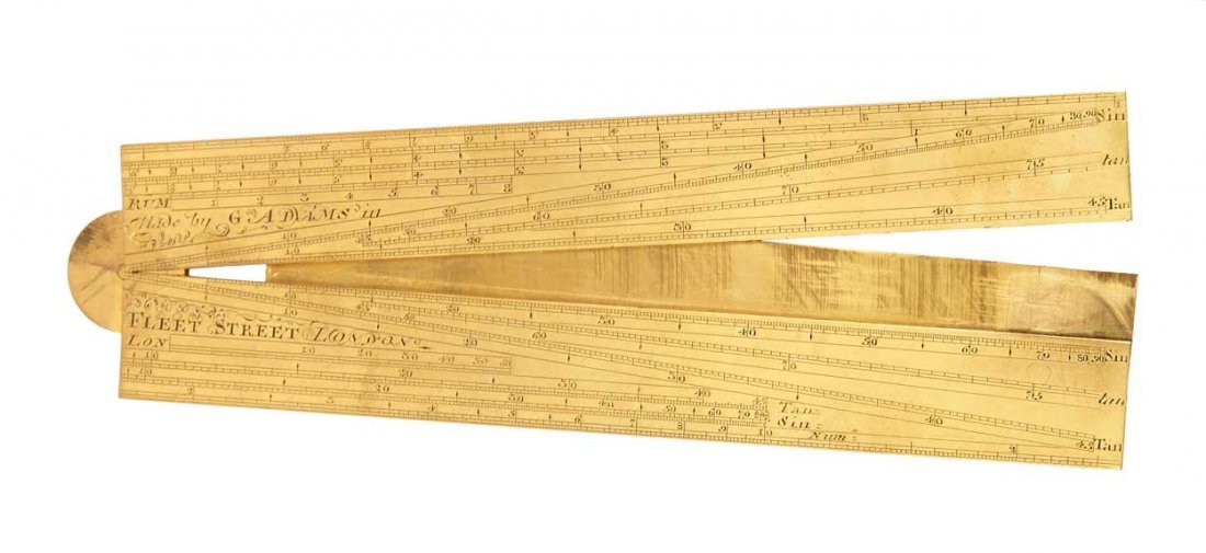A BRASS SECTOR BY GEORGE ADAMS SENIOR, CIRCA 1760