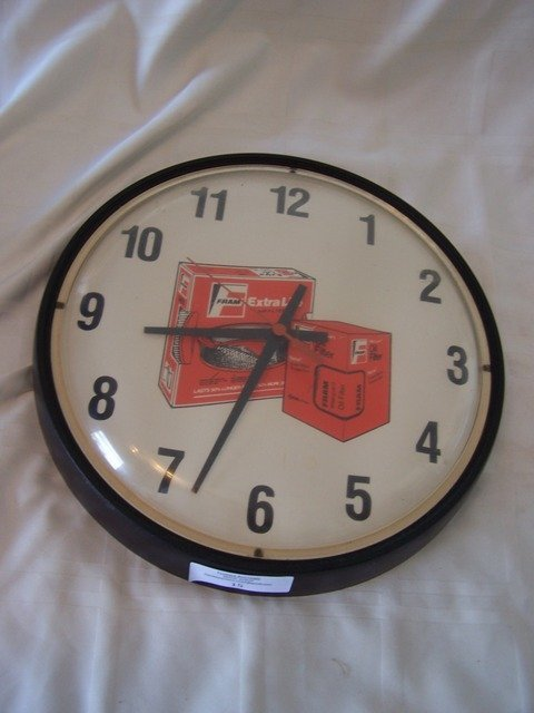 15: Vintage Fram Oil Filter Advertising Clock