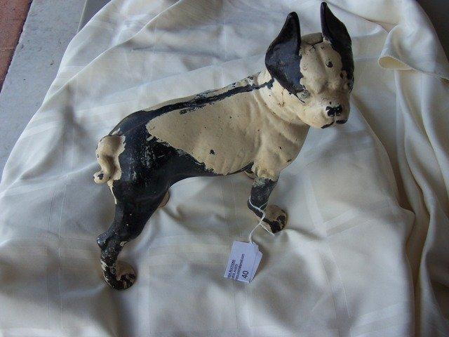 40: Antique Hubley Boston Bull Terrier Door Stop