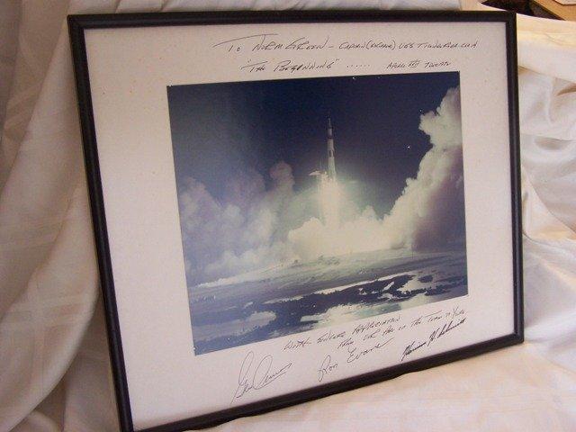 41: Rare Apollo 17 Crew Signed Presentation to Captain
