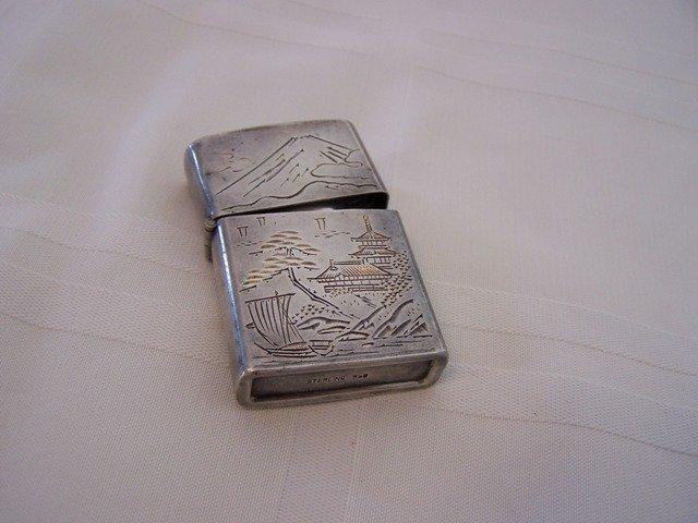 45: Vintage Asian .950 Sterling Silver Lighter