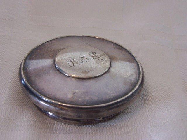 47: Unique Antique Silver Mirror .830
