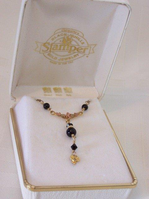 48: 12k Gold Black Hills Stamper Necklace
