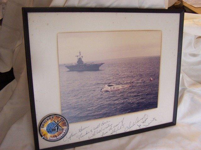51: Skylab Crew Signed Recovery Photo  Presentation