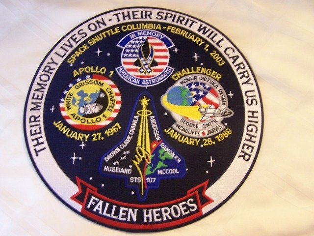 266: Fallen Heroes Large NASA Patch Apollo, Challenger,