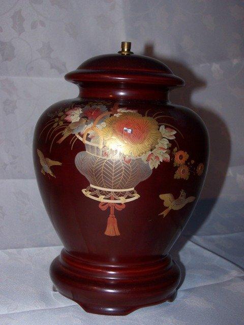 56A: Maruni Lacquerware Lamp Base
