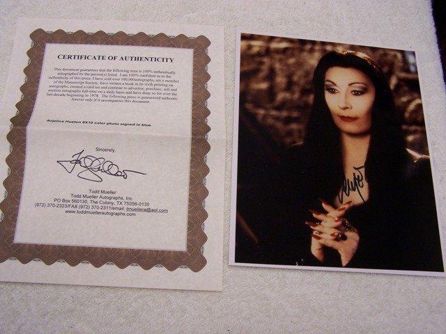 """19: Anjelica Huston """"Morticia"""" Signed Photo"""