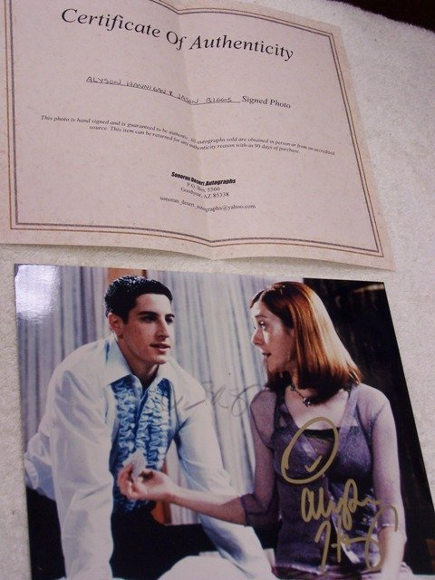 20: Allyson Hannigan and Jason Biggs Signed Photo