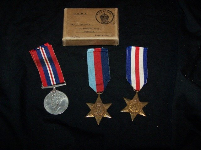 WW11 English Military Medals