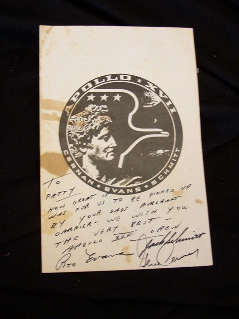Rare Apollo 17 Crew Signed Menu