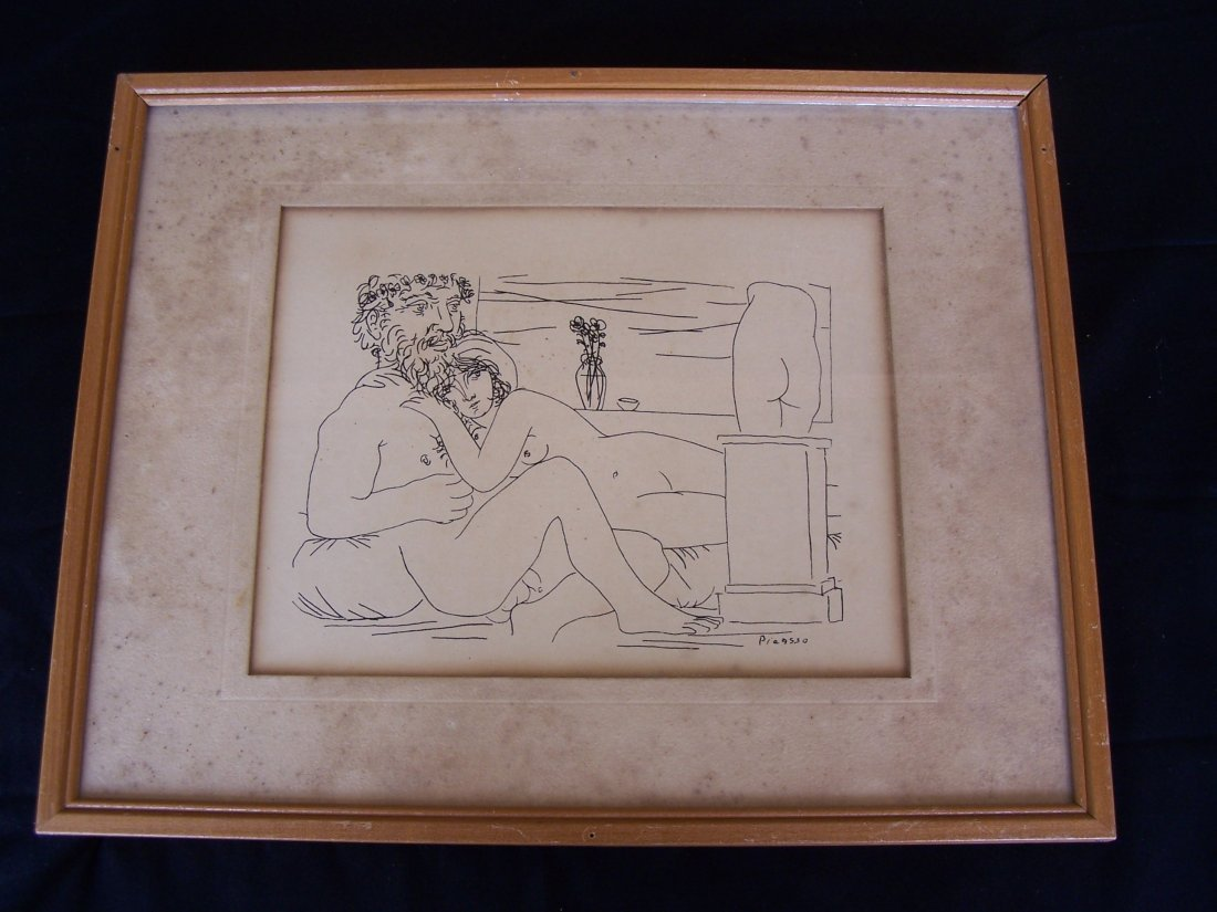 1960's  Picasso Nude Print Modern Classics New York