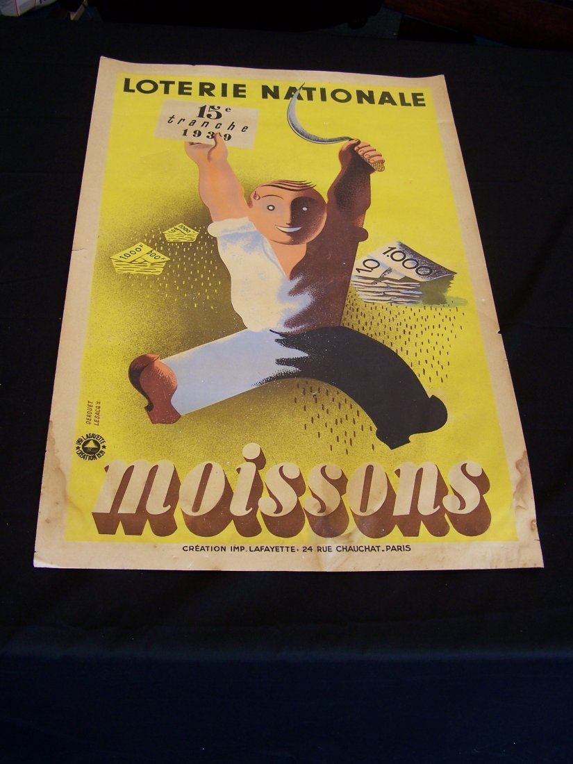 Original 1939 Loterie Nationale Poster