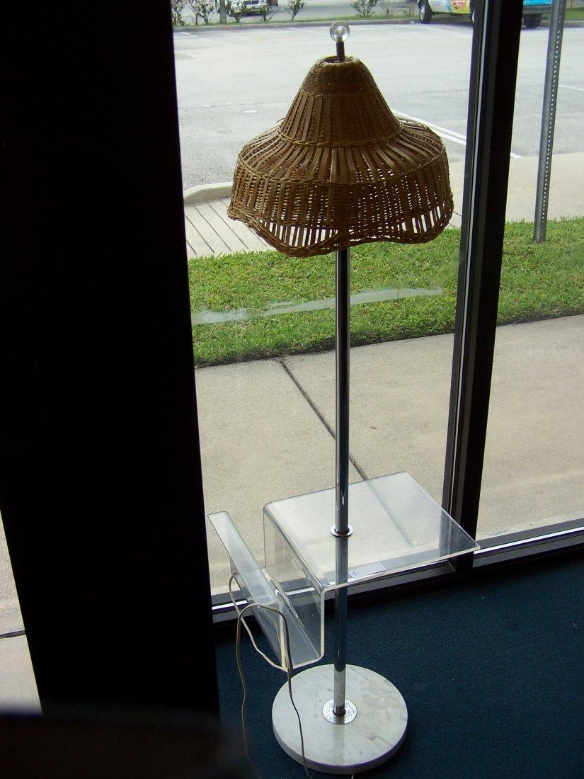 Italiam Mid Century Floor Lamp Lucite and Chrome