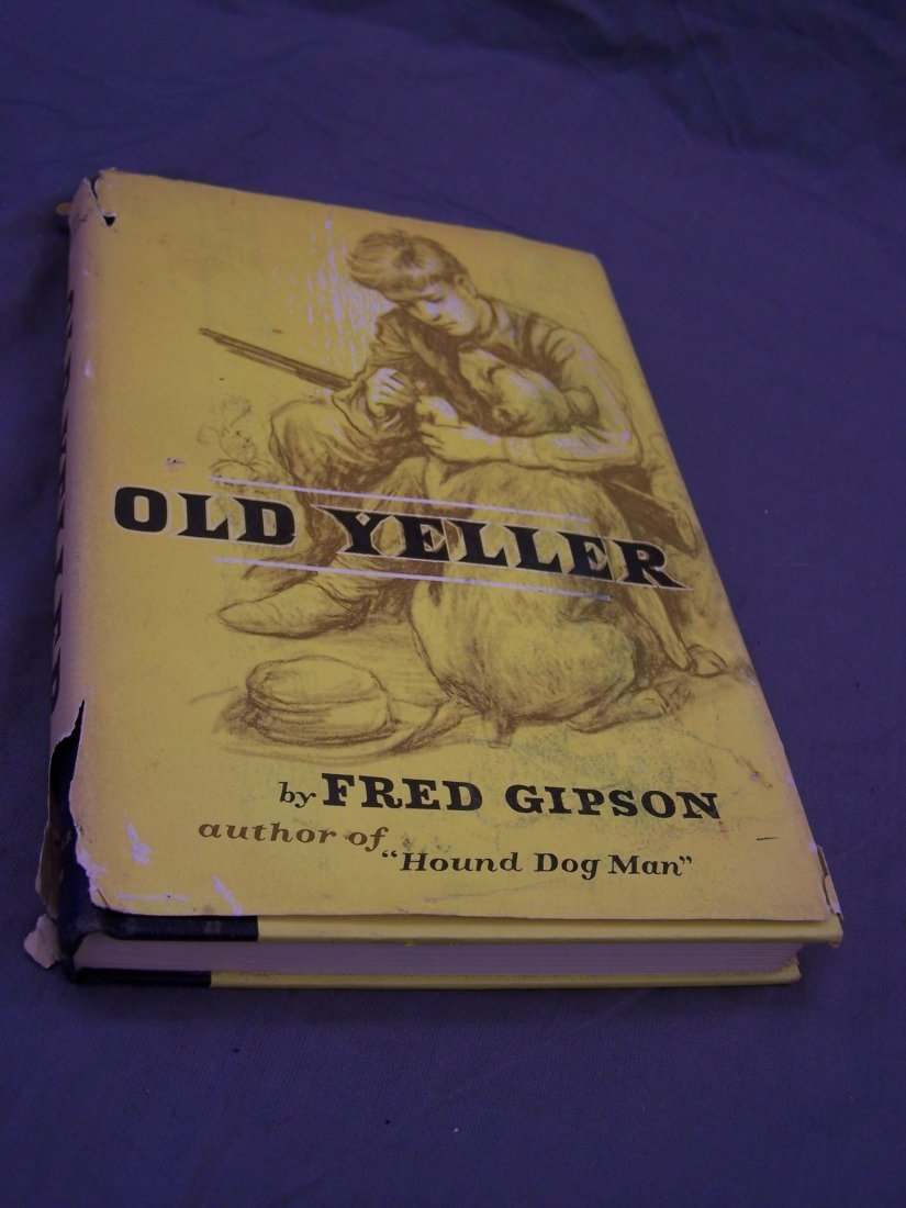 Old Yeller Book Cover : Old yeller first edition book