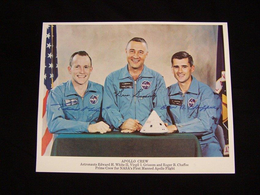 Apollo 1 Crew Litho Signed Autopen