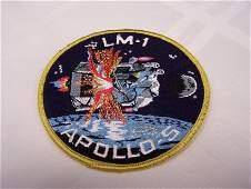LM-1 Apollo 5 Original Grumman Cloth back Patch