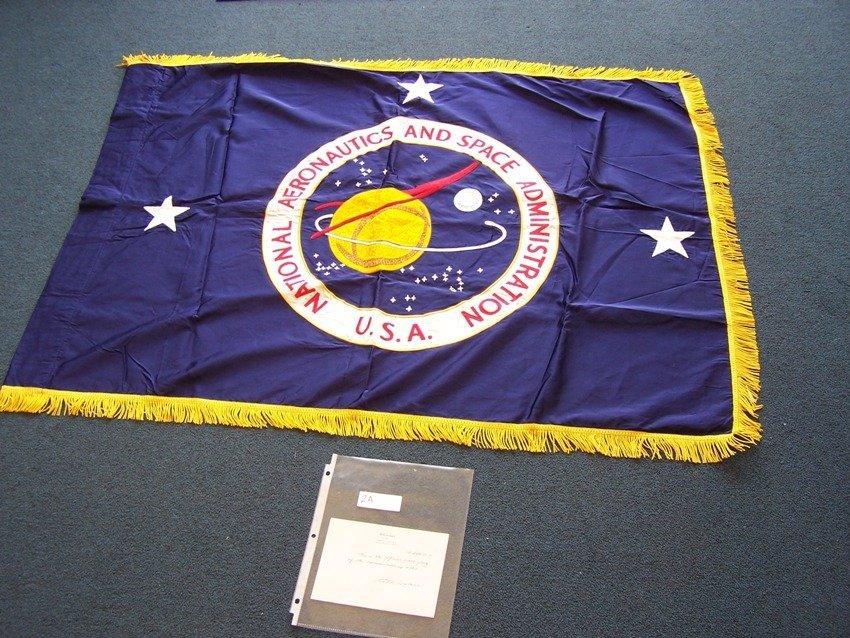 Rare NASA Presentation Deputy Administrator Flag