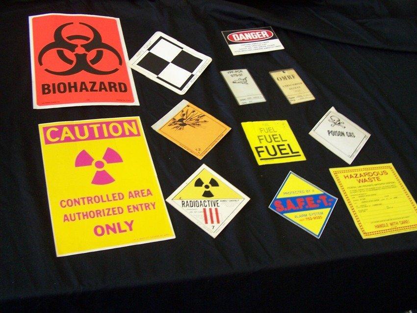 NASA Hazardous Decal Collection and Access Badges