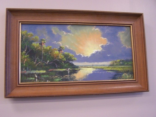 Beautiful Sam Newton Highwayman Painting Florida Scene