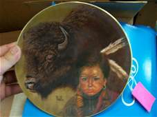 Buffalo Boy by Gregory Perillo Collector Plate