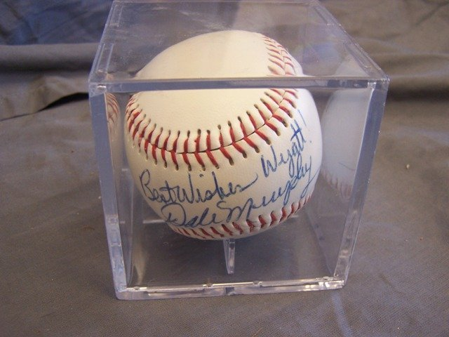 Atlanta Braves Dale Murphy Signed Ball HOF