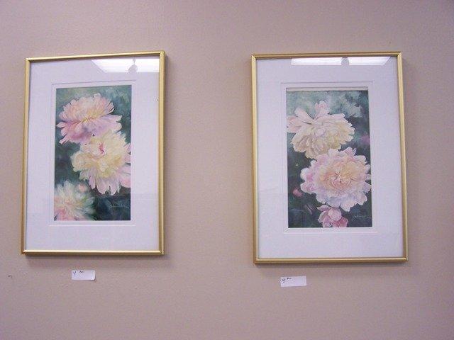 Pair Original Floral  Painting  by J Schumacher