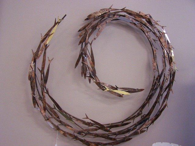 Mid Century Copper Fish Sculpture C Jere Style