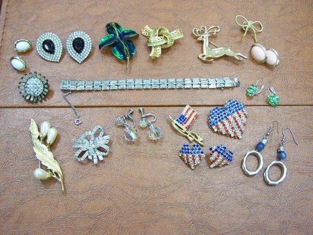 Estate Costume Jewelry Rhinestones Plus