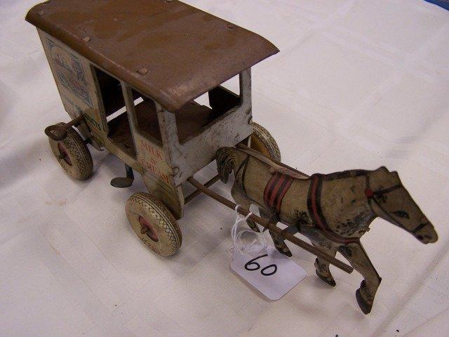 1930's Marx Key wind Horse Drawn Toylands Delivery Farm