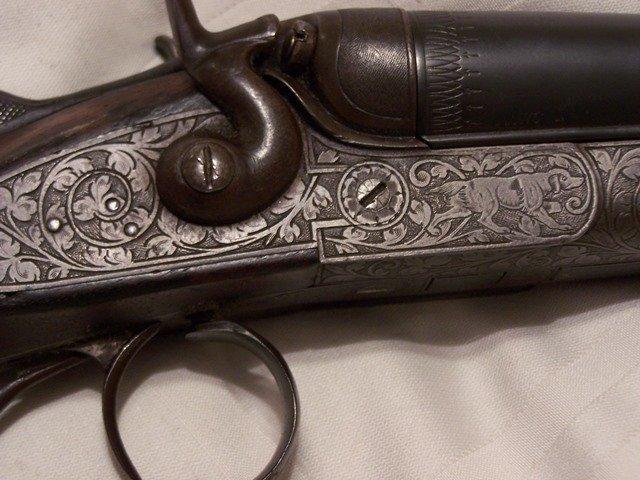 Antique German  16 Ga Double Barrel Shotgun Nicely