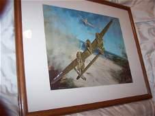 James B Deneen Listed Aviation Artist WW11 Plane Print