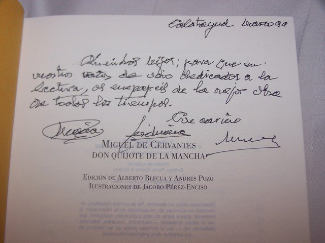 Don Quijote Book 1998 Signed