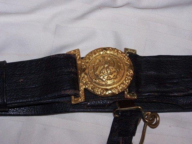 WW1 US Navy Belt Buckle and Belt