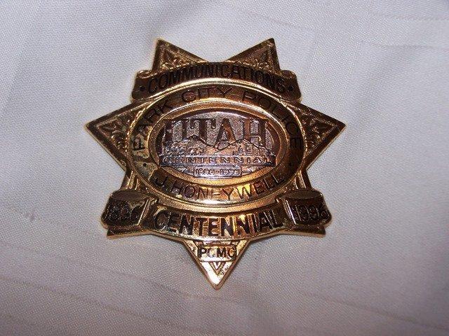 Rare Park City Police Badge Utah