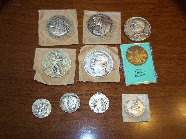 John F Kennedy NASA Apollo Catholic Medallion