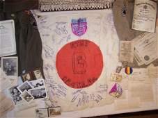 33rd Infantry Division Japanese Flag Estate Grouping US