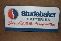 Studebaker Batteries Display Rack Topper Sign