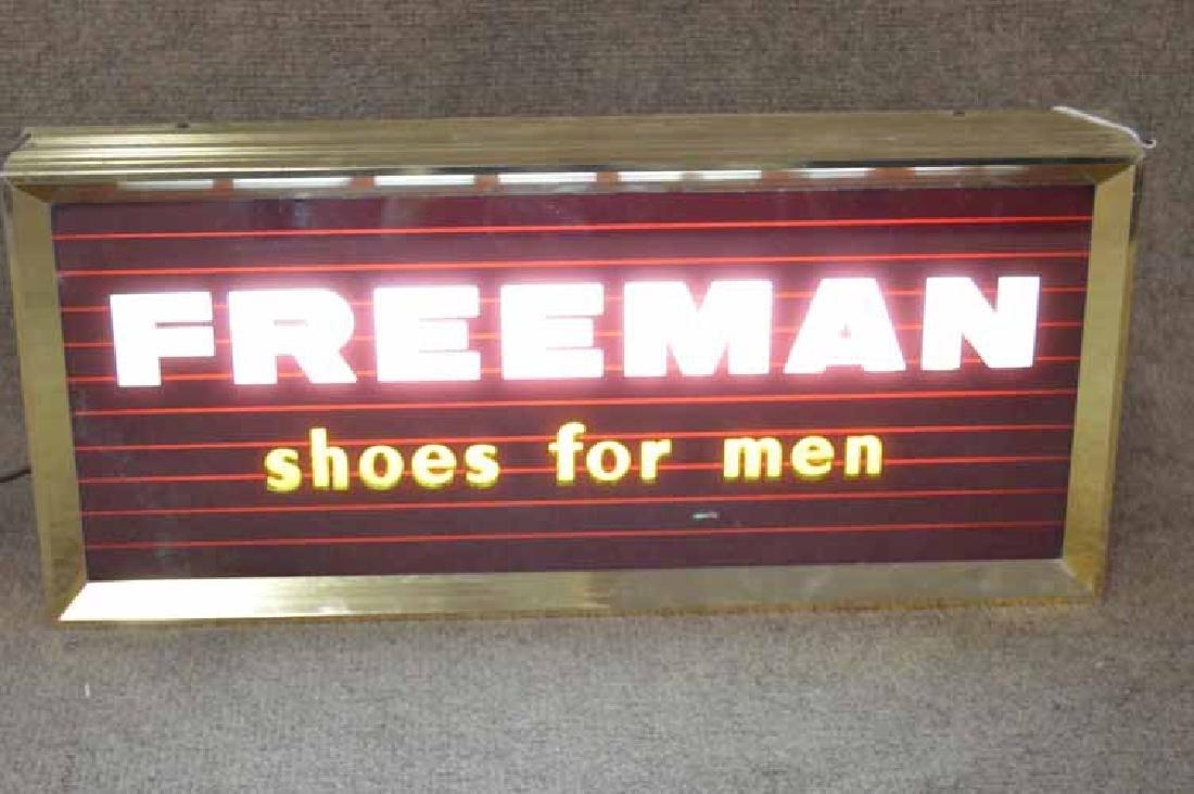 Freeman Shoes For Men Light Up Sign