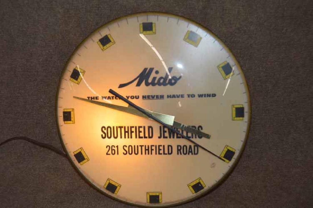 Mido Southfield Jewelers Advertising Clock