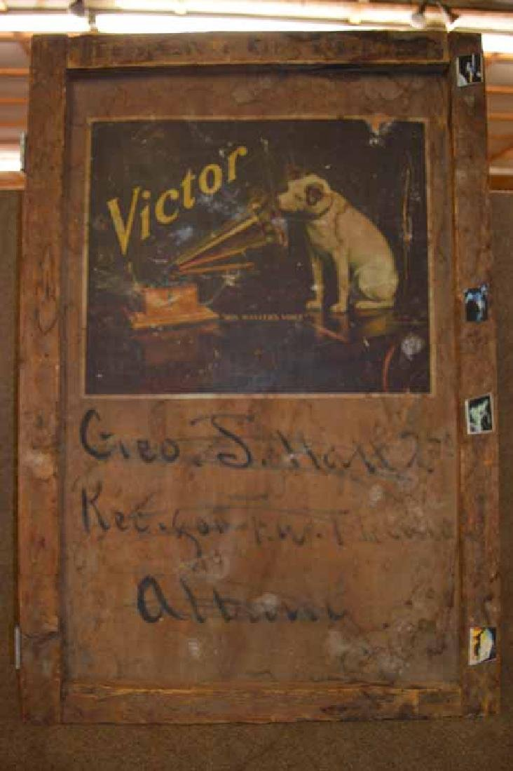 Wooden Victor Victrola Shipping Crate Cover