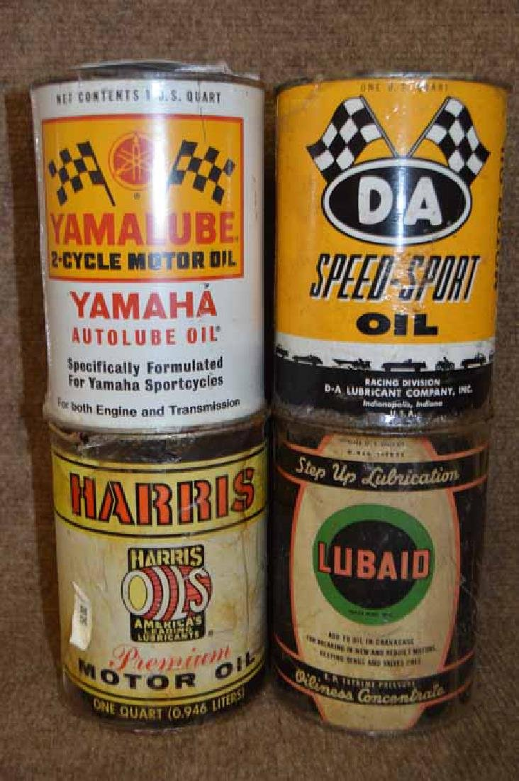 (4) Tin 1 Quart Oil Cans to Inc: D-A Speed Sport,