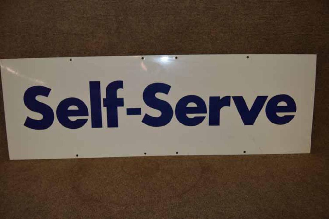 """""""Self Serve"""" Tin Sign"""