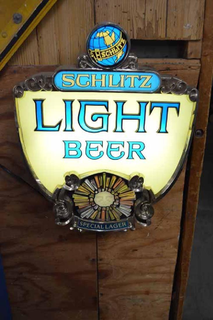 Schlitz Light Beer Light Up Sign