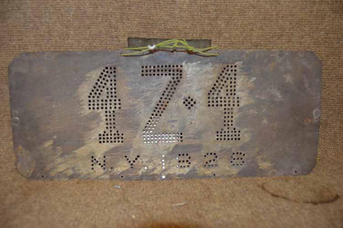 Rare 1928 NY Tin  Light Up License Plate