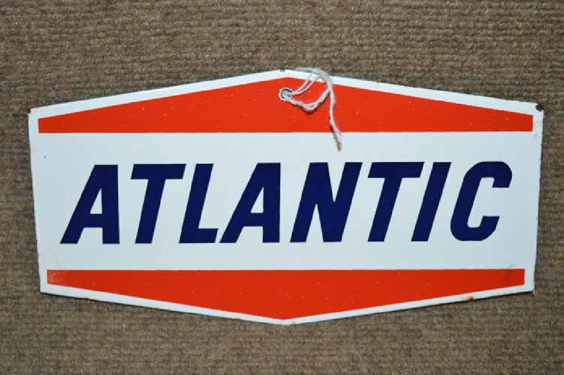 Atlantic Porcelain Pump Sign