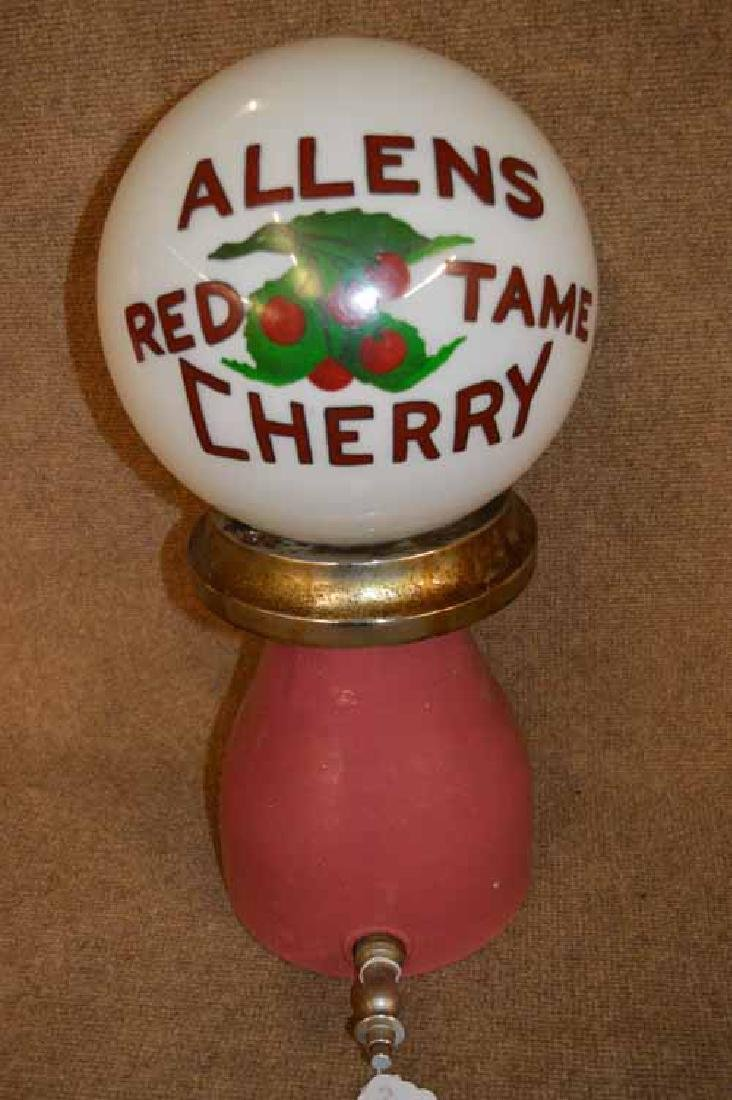 Allens Red Tame Cherry Inc. Parts Ceramic Dispenser.